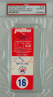 1976 Philadelphia Phillies Ticket Stub vs St. Louis Cardinals Steve Carlton W #152 - May 21 1976 PSA/DNA Authentic