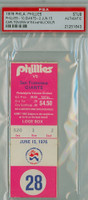 1976 Philadelphia Phillies Ticket Stub vs Los Angeles Dodgers Steve Carlton Win #154 Ed Halicki LP  - June 15 1976 PSA/DNA Authentic