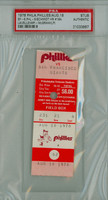 1978 Philadelphia Phillies Ticket Stub vs San Francisco Giants Mike Schmidt HR #184 - August 18 1978 PSA/DNA Authentic