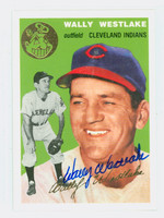 Wally Westlake AUTOGRAPH Topps 1954 Archives Indians 