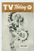 1955 TV Today Indian Princess (32 pages) Michigan - Ohio Edition No Region edition Very Good  [Clean cover, lt moisture on reverse; contents fine]