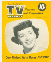 1954 TV Weekly Jun 7 Gisele MacKenzie (16 pages) Salt Lake City edition Very Good to Excellent - No Mailing Label  [Heavy vertical crease, ow lt wear, sm staining; contents fine]