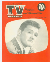 1954 TV Weekly Jul 12 Orson Bean (16 pages) Salt Lake City edition Very Good to Excellent - No Mailing Label  [Very lt moisture on both covers; Casey Stengel photo on reverse, contents fine]