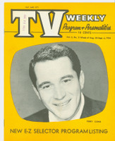 1954 TV Weekly Aug 30 Perry Como (16 pages) Salt Lake City edition Excellent - No Mailing Label  [Lt scuffing, wear and minor staining on both covers; contents fine]