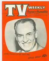 1954 TV Weekly Nov 1 Red Grange (football HOFer) (24 pages) Salt Lake City edition Excellent - No Mailing Label  [Front cover near-mint, reverse cover has some staining; contents fine]