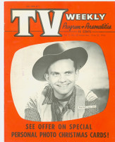 1954 TV Weekly Nov 15 Marshall Dan Law (20 pages) Salt Lake City edition Excellent to Mint - No Mailing Label  [Very lt wear on covers, ow very clean]