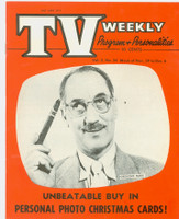 1954 TV Weekly Nov 29 Groucho Marx (20 pages) Salt Lake City edition Excellent to Mint - No Mailing Label  [Super clean example]
