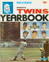 1969 Twins Yearbook Very Good to Excellent Scuffing and lt staining on cover; contents fine
