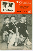1952 TV TODAY June 14 Dennis Day and Kids (32 pg) Detroit edition Very Good - No Mailing Label  [Wear on both covers; contents fine]