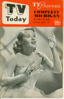 1952 TV TODAY July 19 Patti Page (32 pg) Detroit edition Very Good - No Mailing Label  [Heavy vertical crease on cover; Stray WRT on reverse cover; contents fine]