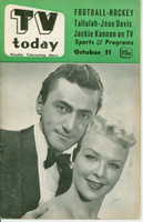 1952 TV TODAY October 11 A Man and a Woman (29 pg) Detroit edition Fair to Good - No Mailing Label  [Back Cover is MISSING, overall wear; contents fine]