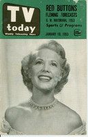 1953 TV TODAY January 10 Dinah Shore (32 pg) Detroit edition Good to Very Good  [Wear on both covers; contents fine]