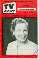 1952 TV News April 11 Carolyn Ackors Indiana edition Very Good - No Mailing Label  [Wear on cover, comic scribble on image, contents fine]