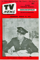 1953 TV News March 13 Gilbert Forbes Indiana edition Very Good to Excellent  [Vertical crease, contents fine]