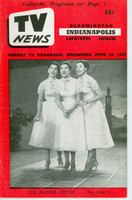 1953 TV News June 26 The McGuire Sisters Indiana edition Very Good to Excellent  [Lt wear on cover; contents fine]