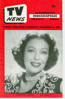 1953 TV News December 11 Loretta Young Indiana edition Excellent  [Lt wear on cover; contents fine]