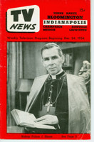 1954 TV News December 24 Bishop Sheen Indiana edition Very Good  [Wear and creasing on cover; contents fine]