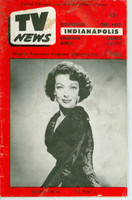 1955 TV News December 23 Loretta Young Indiana edition Fair to Poor  [Heavy moisture and staining on cover; moisture throughout; readable]
