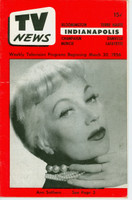 1956 TV News March 30 Ann Southern Indiana edition Very Good to Excellent  [Lt wear on cover; contents fine]