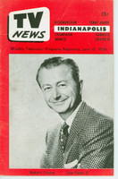 1956 TV News June 15 Robert Young Indiana edition Very Good  [Wear and creasing on cover; contents fine]