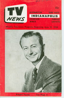 1956 TV News June 15 Robert Young Indiana edition Good to Very Good  [Wear and creasing on cover; contents fine]