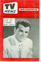 1956 TV News September 14 Julius La Rosa Indiana edition Very Good  [Heavy creasing and lt staining on cover; contents fine]