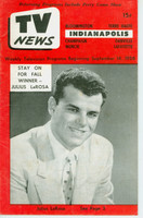 1956 TV News September 14 Julius La Rosa Indiana edition Very Good to Excellent  [Wear and creasing on cover; contents fine]
