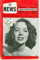 1956 TV News November 16 Lisa Kirk Indiana edition Very Good  [Wear and fraying on cover; contents fine]