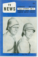 1957 TV News January 5 Bengal Lancers Indiana edition Very Good  [Wear and creasing on cover; contents fine]