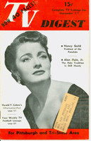 1952 TV DIGEST November 1 Nancy Guild (40 pgs) Pittsburgh edition Very Good to Excellent  [Wear and creasing on cover; contents fine]