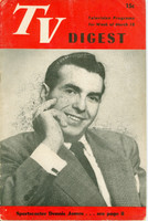1950 TV DIGEST March 18 Dennis James (24 pgs) Philadelphia edition Very Good  [Stray print on cover, ow contents fine]
