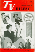 1950 TV DIGEST June 10 Popularity Poll Winners (24 pgs) Philadelphia edition Very Good to Excellent  [Sl curl along binding, ow very clean]