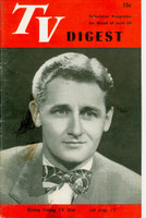 1950 TV DIGEST June 17 Kay Kyser (24 pgs) Philadelphia edition Very Good - No Mailing Label  [Lt staining on both covers, contents fine]