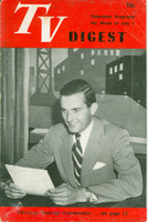 1950 TV DIGEST July 1 Randy Kraft of TV News Reel (24 pgs) Philadelphia edition Very Good  [Heavy wear along binding, contents fine]