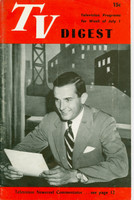 1950 TV DIGEST July 1 Randy Kraft of TV News Reel (24 pgs) Philadelphia edition Very Good to Excellent  [Heavy vertical crease, contents fine]