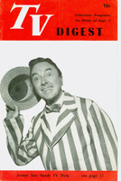 1950 TV DIGEST September 2 Jack Haley of Ford Star Revue (24 pgs) Philadelphia edition Very Good  [Heavy vertical crease, contents fine]