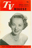 1951 TV DIGEST January 13 Jennifer Holt of the Panhandle Pete Show (32 pgs) Philadelphia edition Very Good to Excellent  [Lt wear on cover; contents fine]