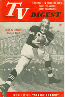 1951 TV DIGEST December 1 Football Player (40 pgs) Pennsylvania State edition Very Good to Excellent  [Lt wear on cover, ow clean; label stamped on reverse]