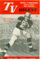 1951 TV DIGEST December 1 Football Player (40 pgs) Pennsylvania State edition Very Good  [Wear on cover; contents fine]