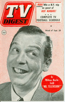 1952 TV DIGEST September 20 Milton Berle (40 pg) Philadelphia edition Good to Very Good  [Sl curl along binding, cover creasing; contents fine]