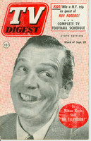 1952 TV DIGEST September 20 Milton Berle (40 pg) Pennsylvania State edition Very Good  [Heavy fading on cover, contents fine]
