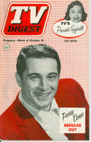 1952 TV DIGEST October 18 Perry Como (44 pg) Pennsylvania State edition Very Good  [Sl curl along binding, lt cover wear; contents fine]