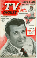 1952 TV DIGEST October 25 Dennis Day (44 pg) Philadelphia edition Very Good to Excellent  [Lt wear on both covers, minor staining; contents fine]