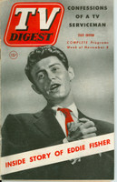 1952 TV Digest November 8 Eddie Fisher (44 pages) Pennsylvania State edition Very Good  [Sl curl along binding, lt cover wear; contents fine]