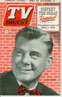 1952 TV DIGEST November 15 Arthur Godfrey (44 pg) Pennsylvania State edition Excellent  [Lt wear on both covers, contents fine]