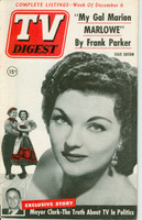 1952 TV DIGEST December 6 Marion Marlowe (44 pg) Pennsylvania State edition Excellent  [Lt wear on cover, contents fine]