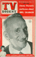 1952 TV DIGEST December 13 Jimmy Durante (44 pg) Philadelphia edition Very Good  [Lt spotting and staining on cover; contents fine]