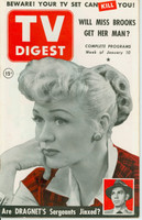 1953 TV DIGEST January 10 Eve Arden (44 pg) Philadelphia edition Excellent - No Mailing Label  [Lt wear on cover, ow clean; contents fine]