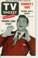 1953 TV DIGEST January 24 Frankie Laine (48 pg) Pennsylvania State edition Very Good to Excellent  [Lt wear on cover, stray pencil WRT on reverse cover; contents fine]