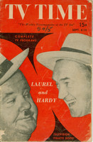 1951 TV TIME September 8 Laurel and Hardy (32 pg) Southern California edition Good to Very Good - No Mailing Label  [Heavy wear on cover, sl paper loss on both covers; contents fine]